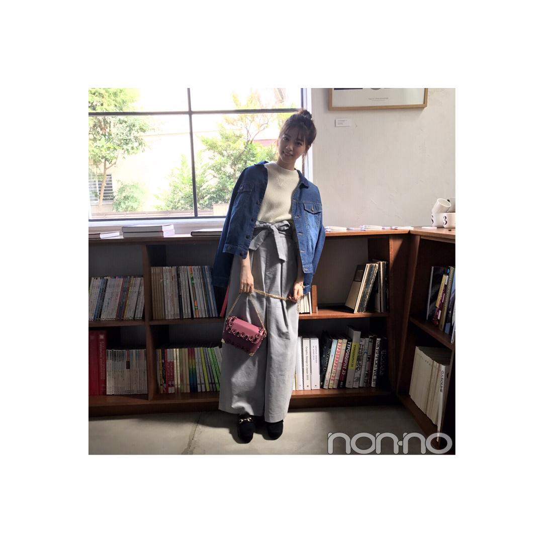 西野七瀬は「肩掛けGジャン」でこなれコーデに【毎日コーデ】_1_1