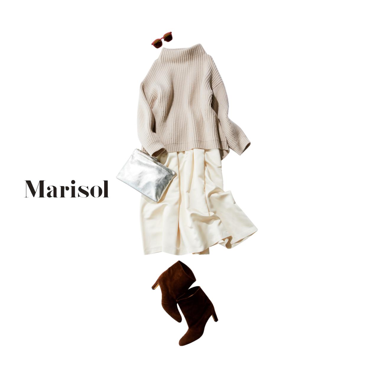 ファッション ざっくりニット×スカートコーデ