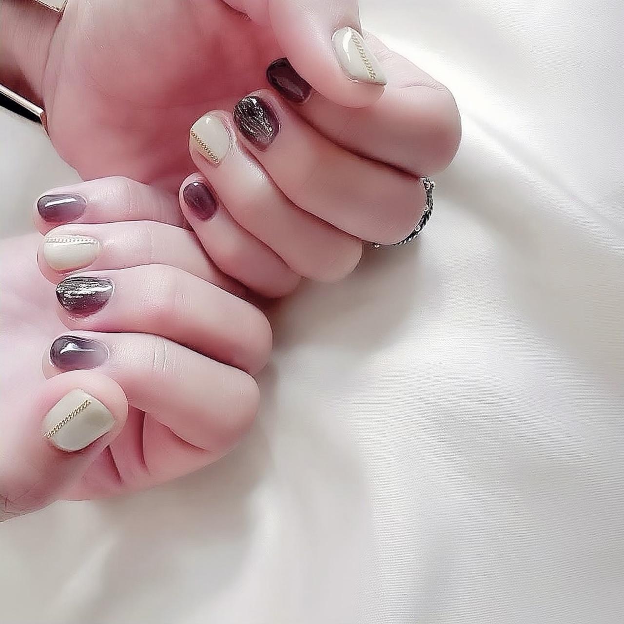 秋ネイルと美スマホケース_1_1
