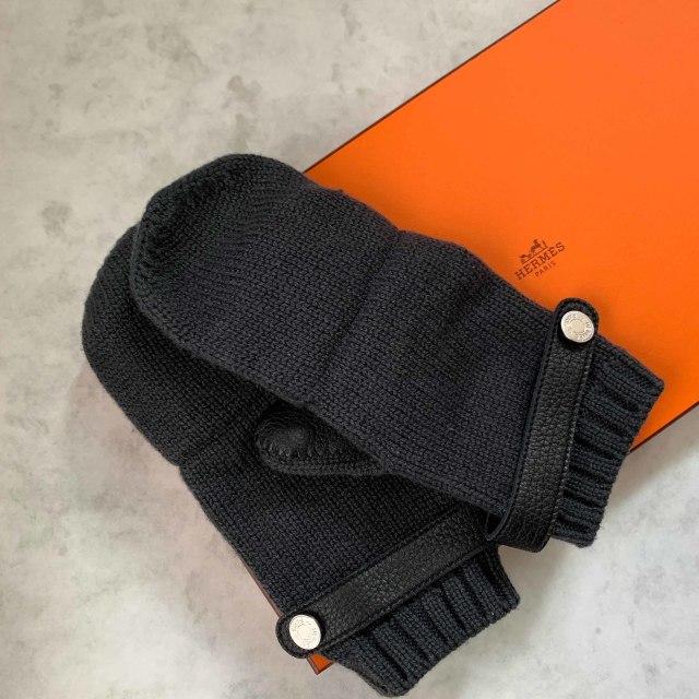 冬の手元をエレガントに防寒するエルメスのカシミヤ手袋_1_1