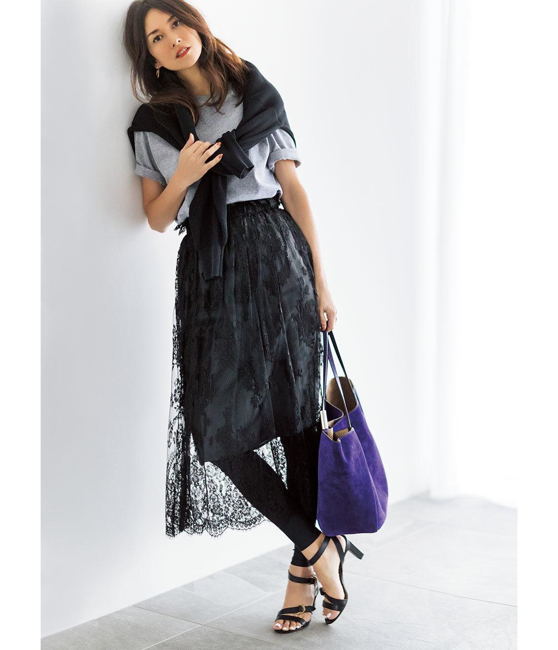 40代が輝く、大人のための上品カジュアルなTシャツコーデカタログ | アラフォーファッション_1_3