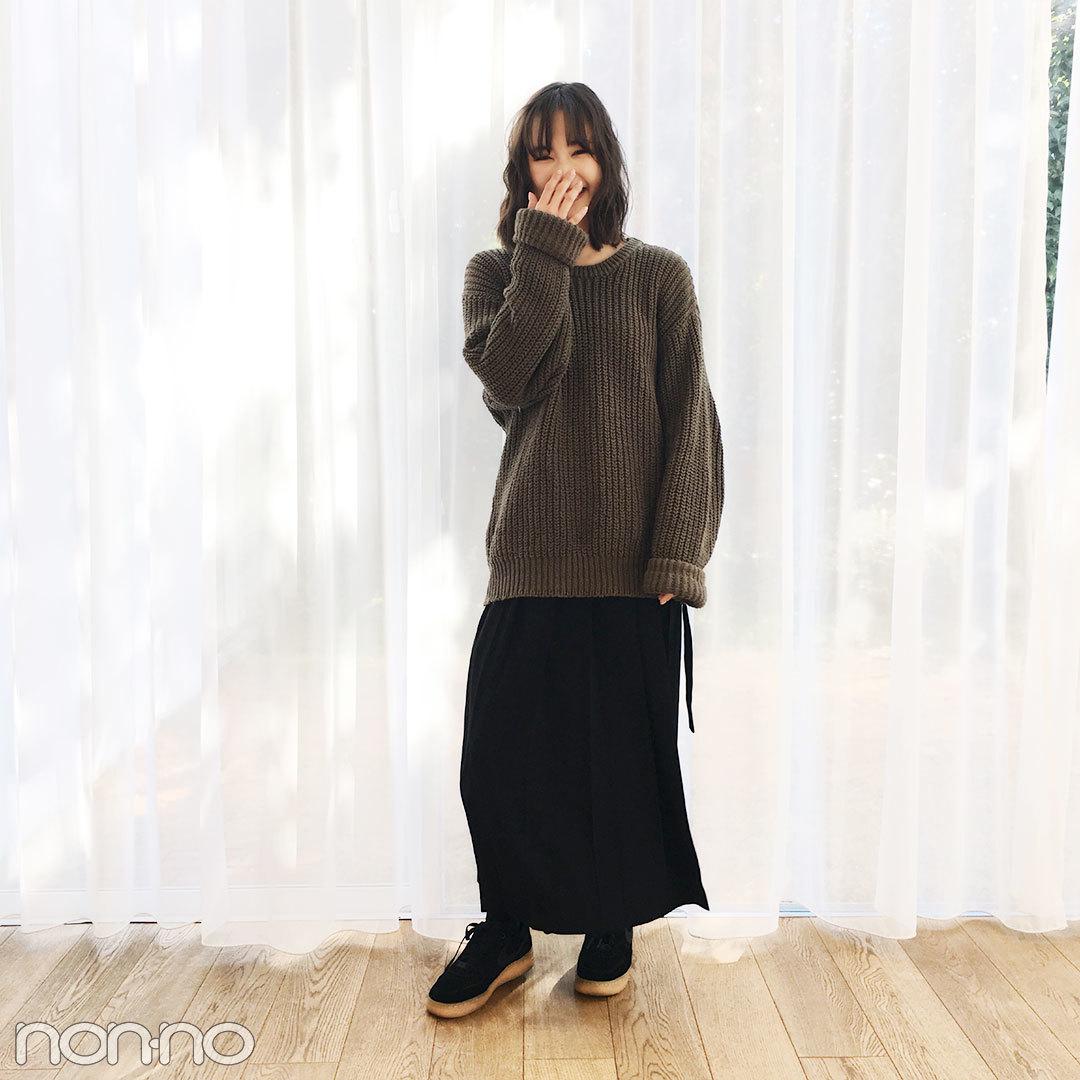 鈴木友菜はKBFのチェック柄コートでゆるずるあったかコーデ♡ 【モデルの私服スナップ】_1_2-1