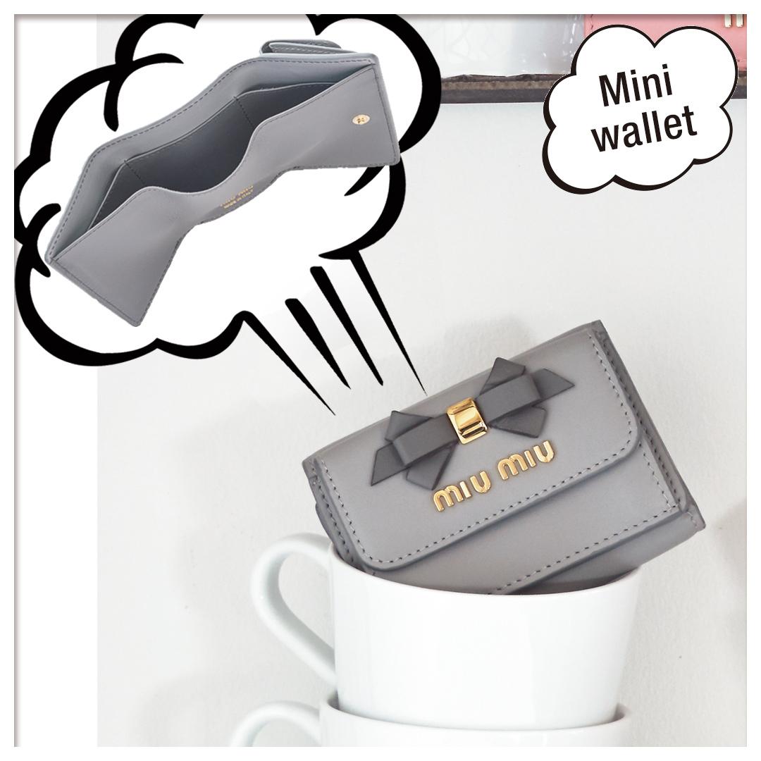  ミュウミュウ ミニ財布