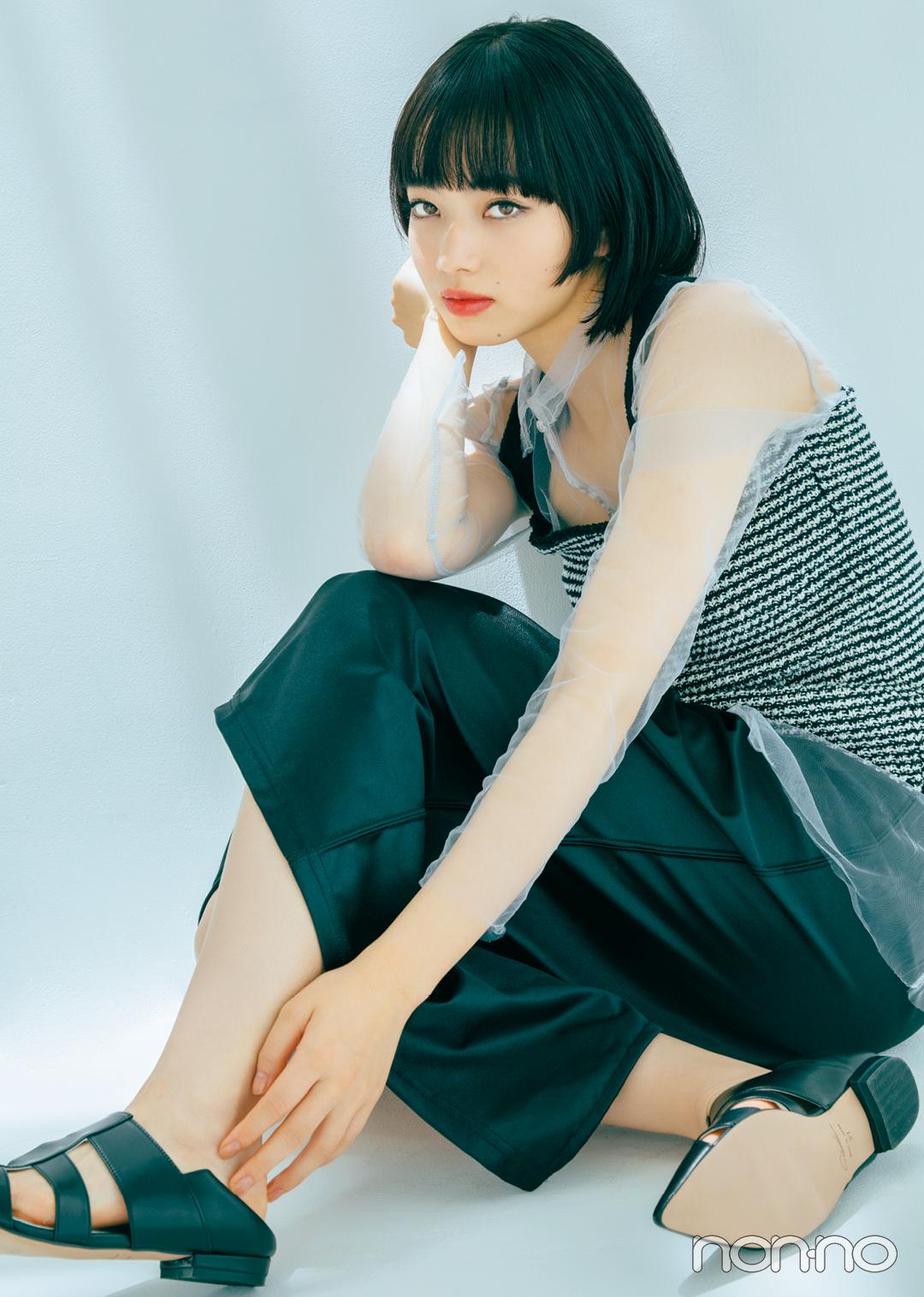 夏の黒コーデ、おしゃれに定評のある小松菜奈さんのアイディアをチェック!_1_2