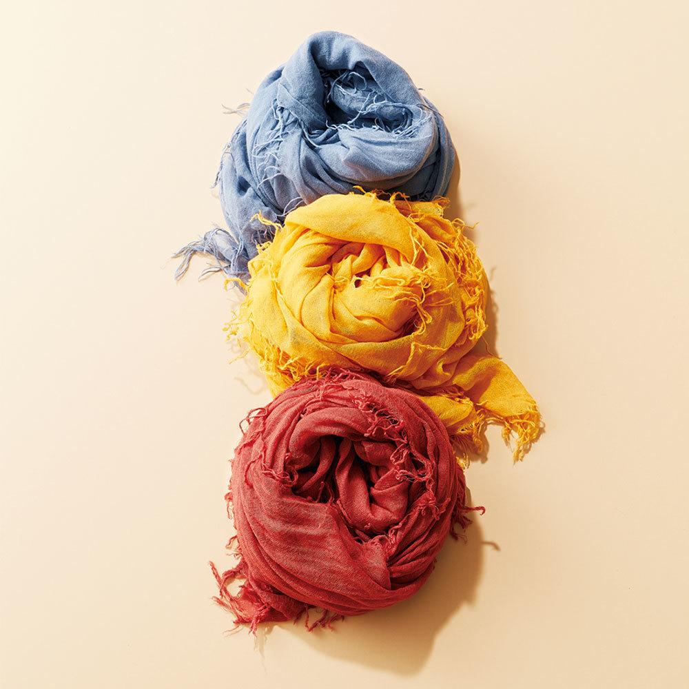 ファッション CHAN LUUのカシミア&シルクカラーストール