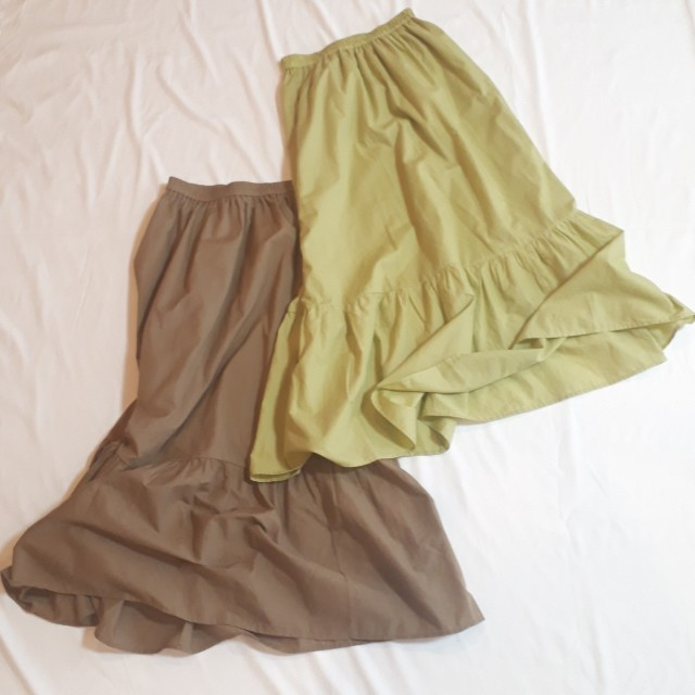 GUの一段ティアードスカート