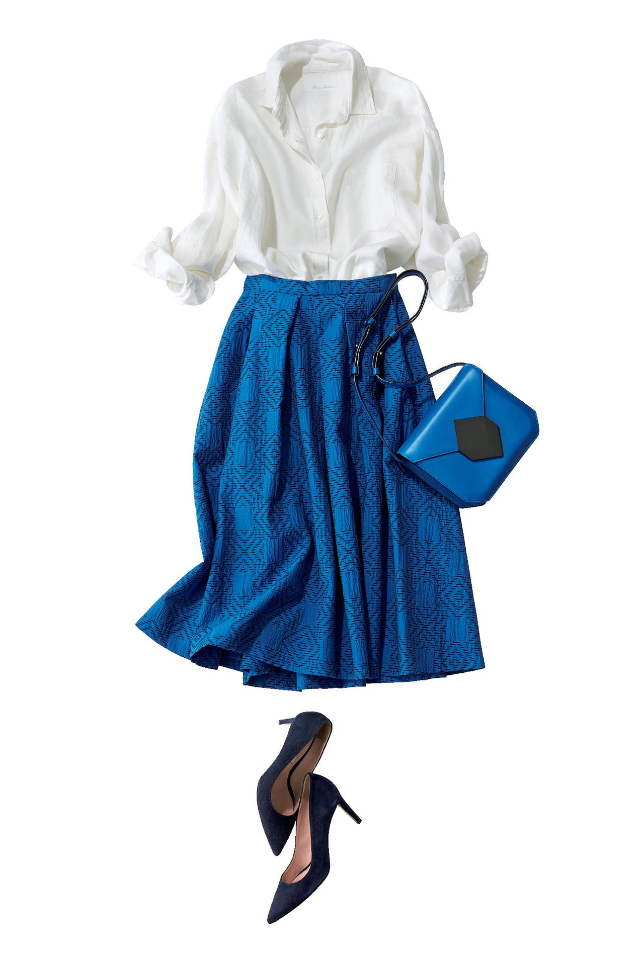 ブルーのスカートは、涼やかな美人感で360度好感度! 五選_1_1-3