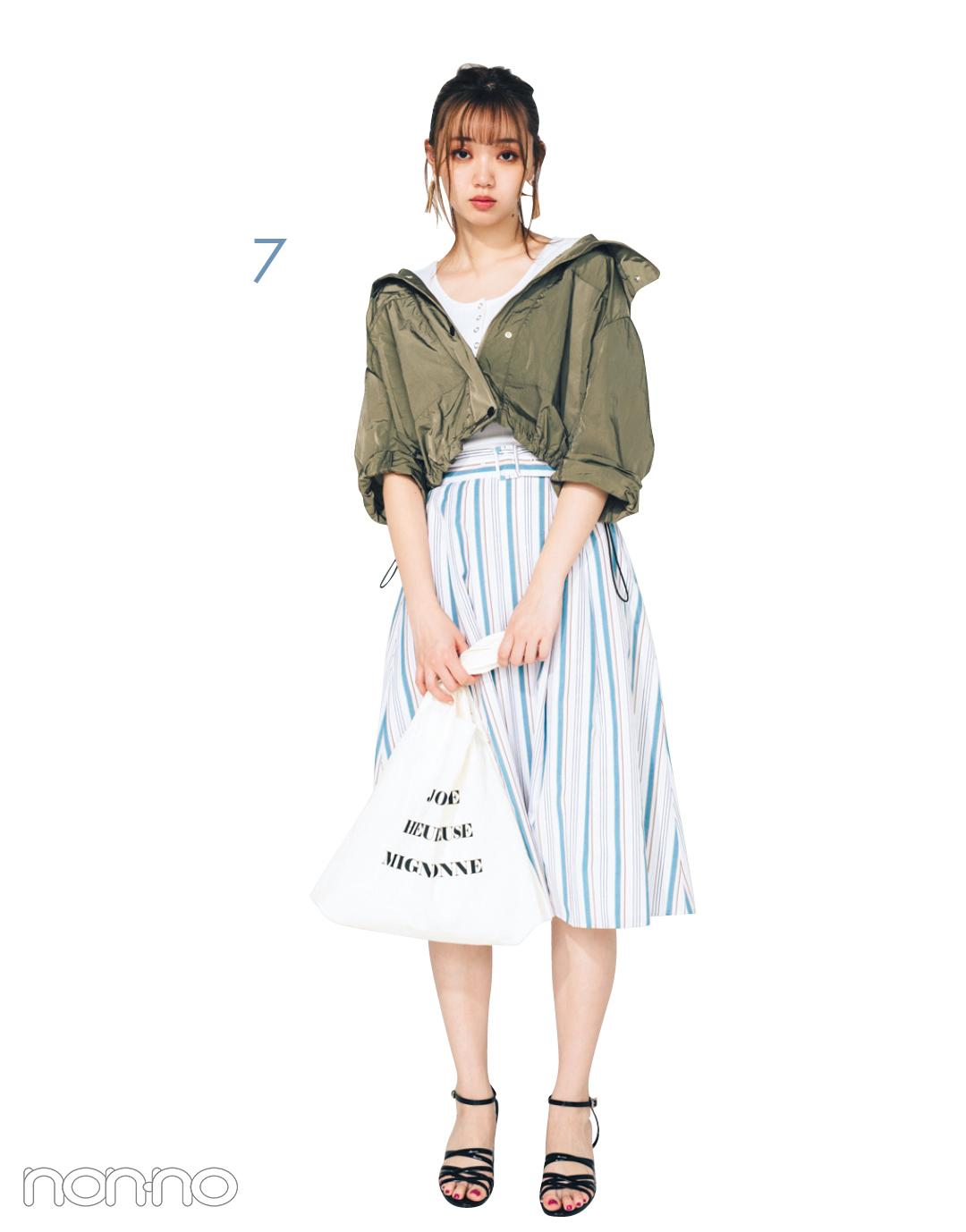 トレンドスカートの着回しコーデ1×7★ ストライプならこんなに使える!_1_3-7
