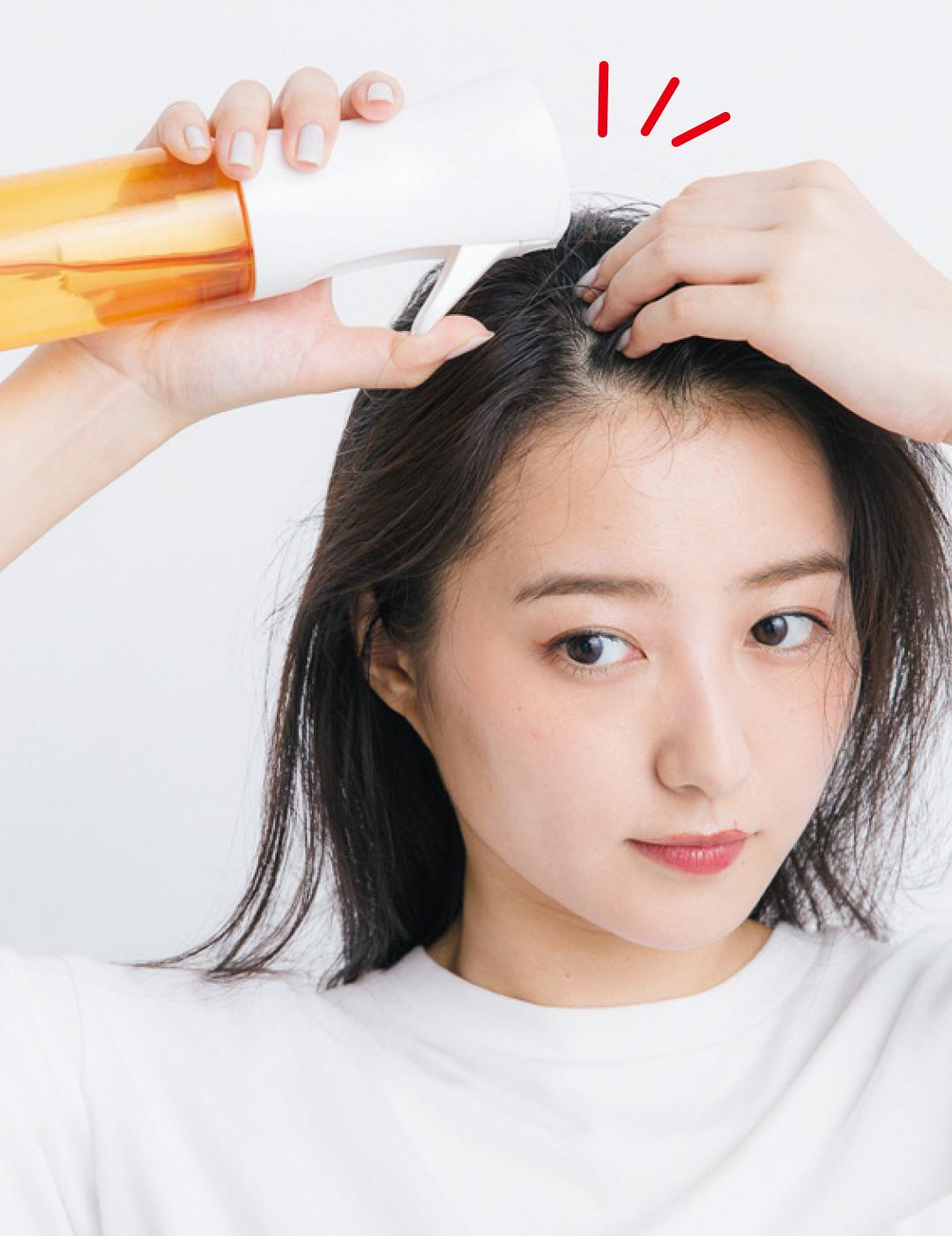 前髪がぱっくり割れてる、寝グセがヤバい…朝の髪形悩み、解決策5選!_1_7