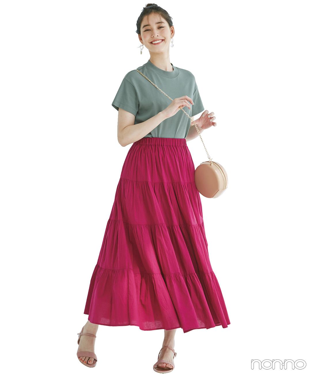 新木優子はメリハリ配色で真夏のコーデを新鮮に!【毎日コーデ】