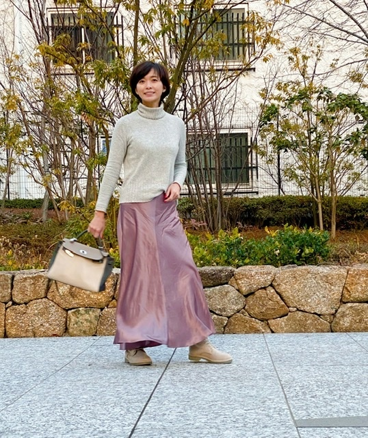 愛着服×ZARAのフェミニンスカート_1_3