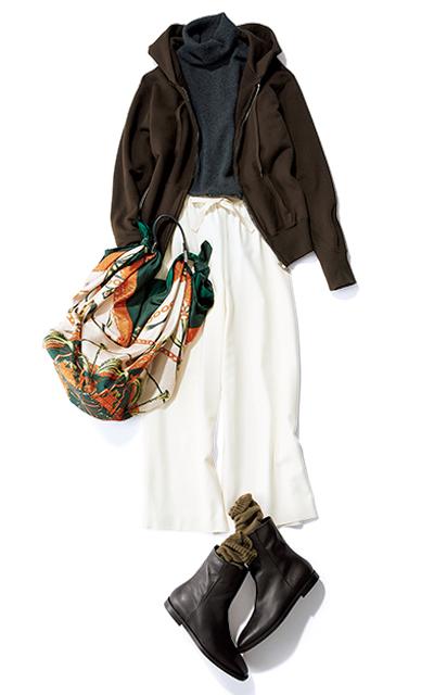 【Day25】雑貨めぐり散歩はドロストのゆるいパンツ+ブーツで!【冬の洗練パンツ30days】_1_1