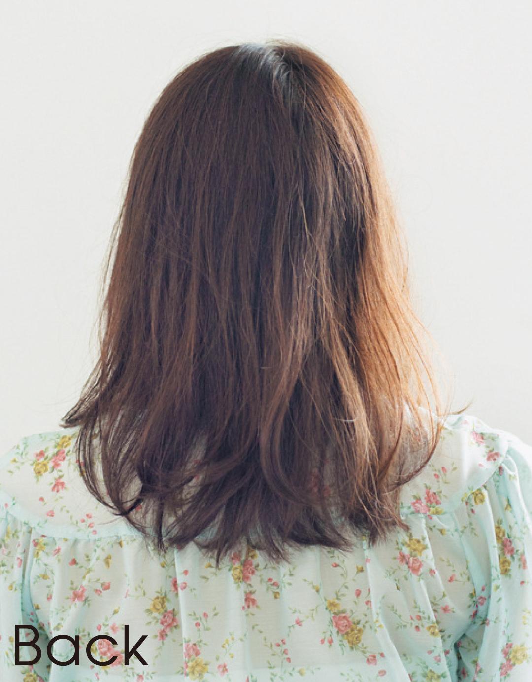ぺたんこ髪でも、髪が多くてもOK! 石原さとみさん風ミディヘア見本帳_1_6-2