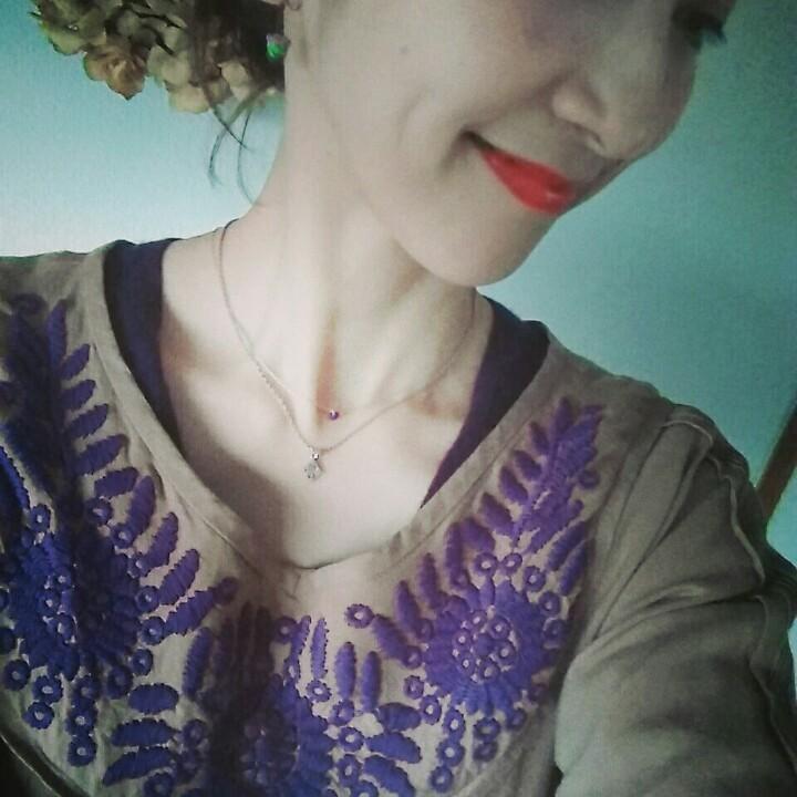 刺繍ワンピースでクラシカルに美術館へ。_1_2