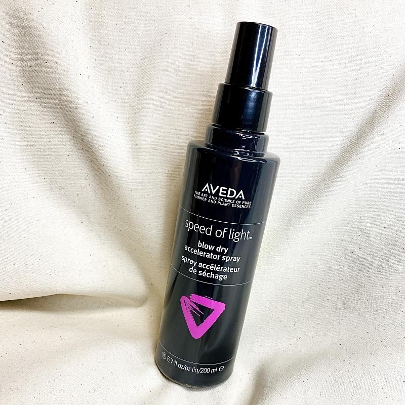 アヴェダのブロードライ アクセラレータースプレーはドライヤーで髪を乾かす時間を短縮してくれるヘアスプレー