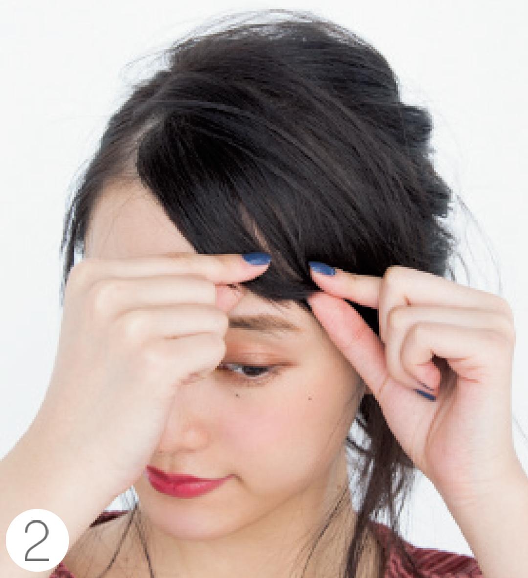 春の前髪アレンジ★ふんわりカールとクールな斜め前髪の作り方をていねい解説!_1_5-2