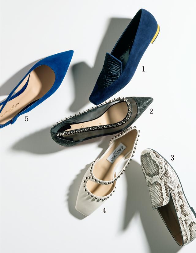 上品インパクト靴 フラット靴