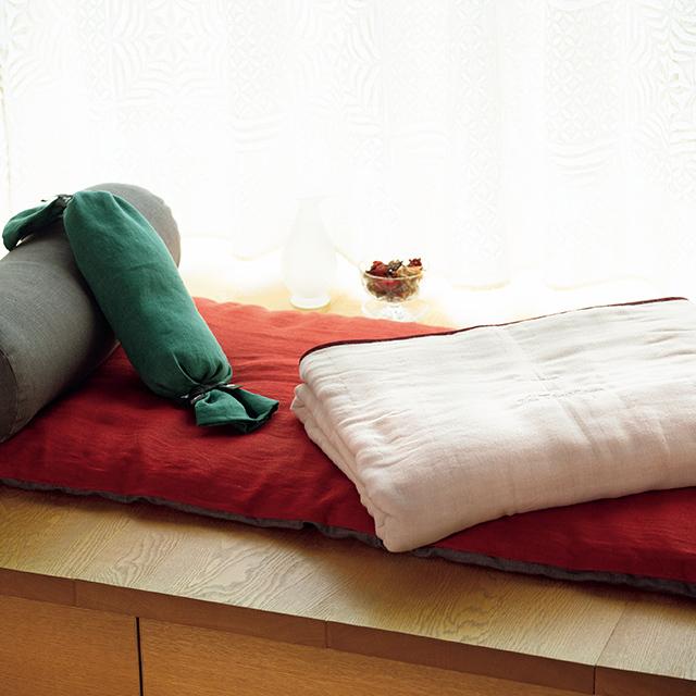 シエスタマット&円筒型枕