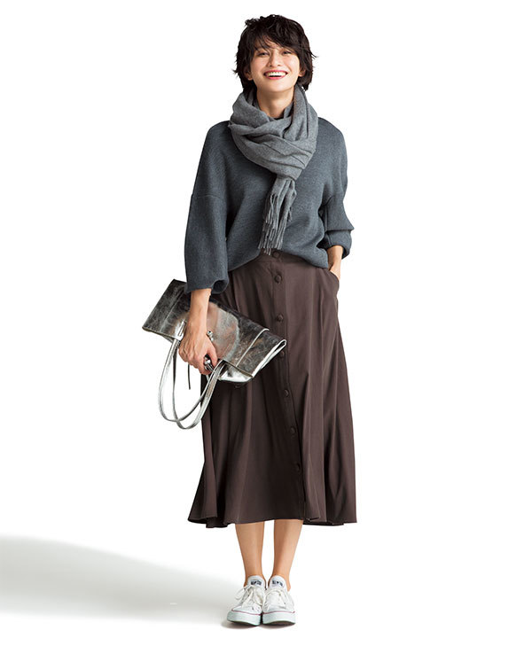 今年注目の色「ブラウン」!スカートを着回して実力を検証!_1_2-1