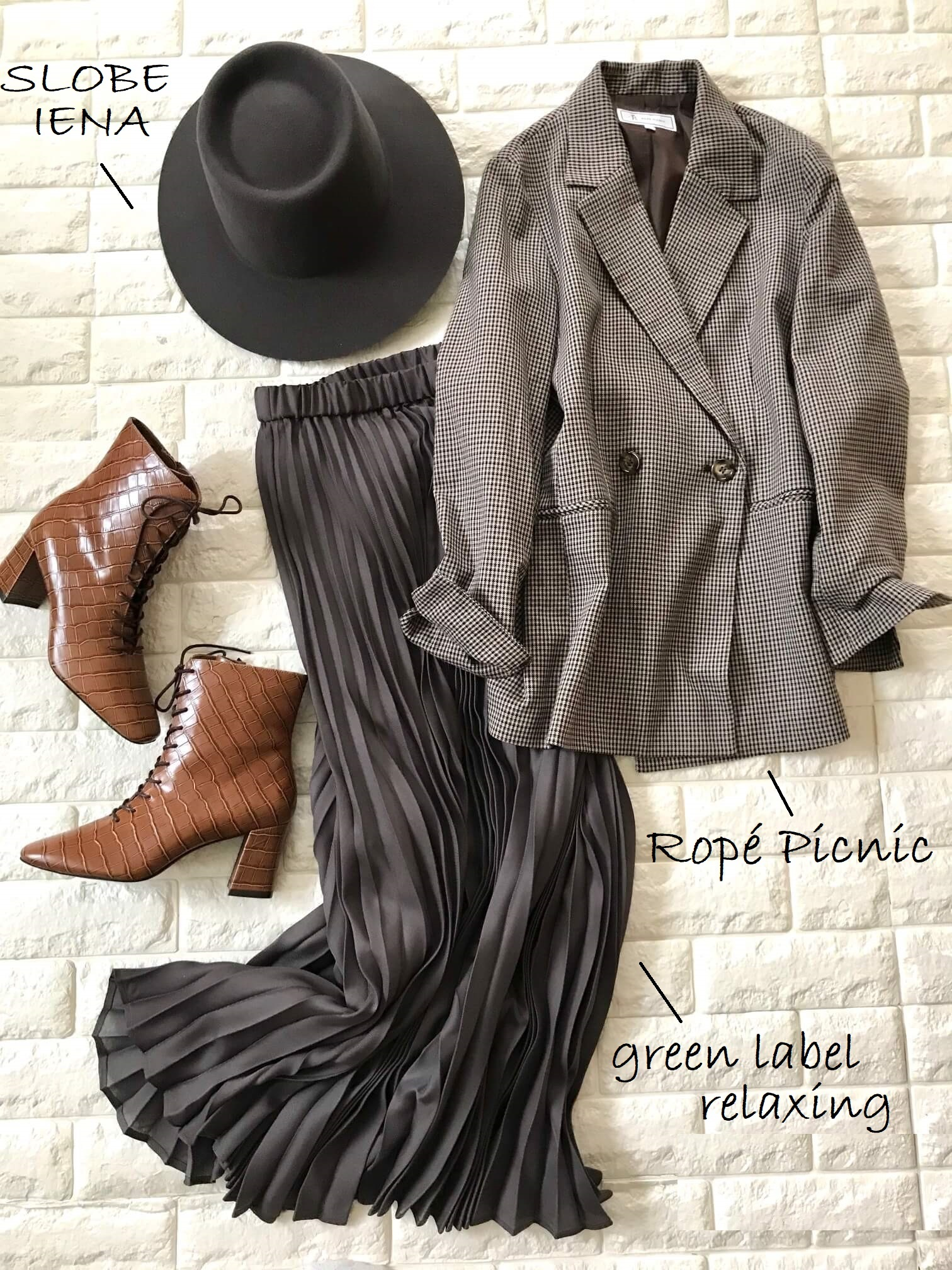 ダニエラ&ジェマのブーツとジャケットを合わせたコーデ