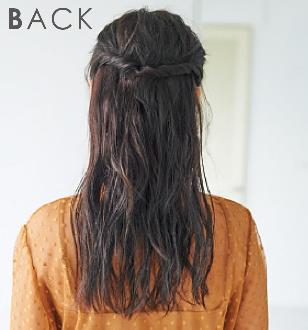 髪が硬い&太い人のヘアアレンジ★こなれたハーフアップを作るには?_1_3-2