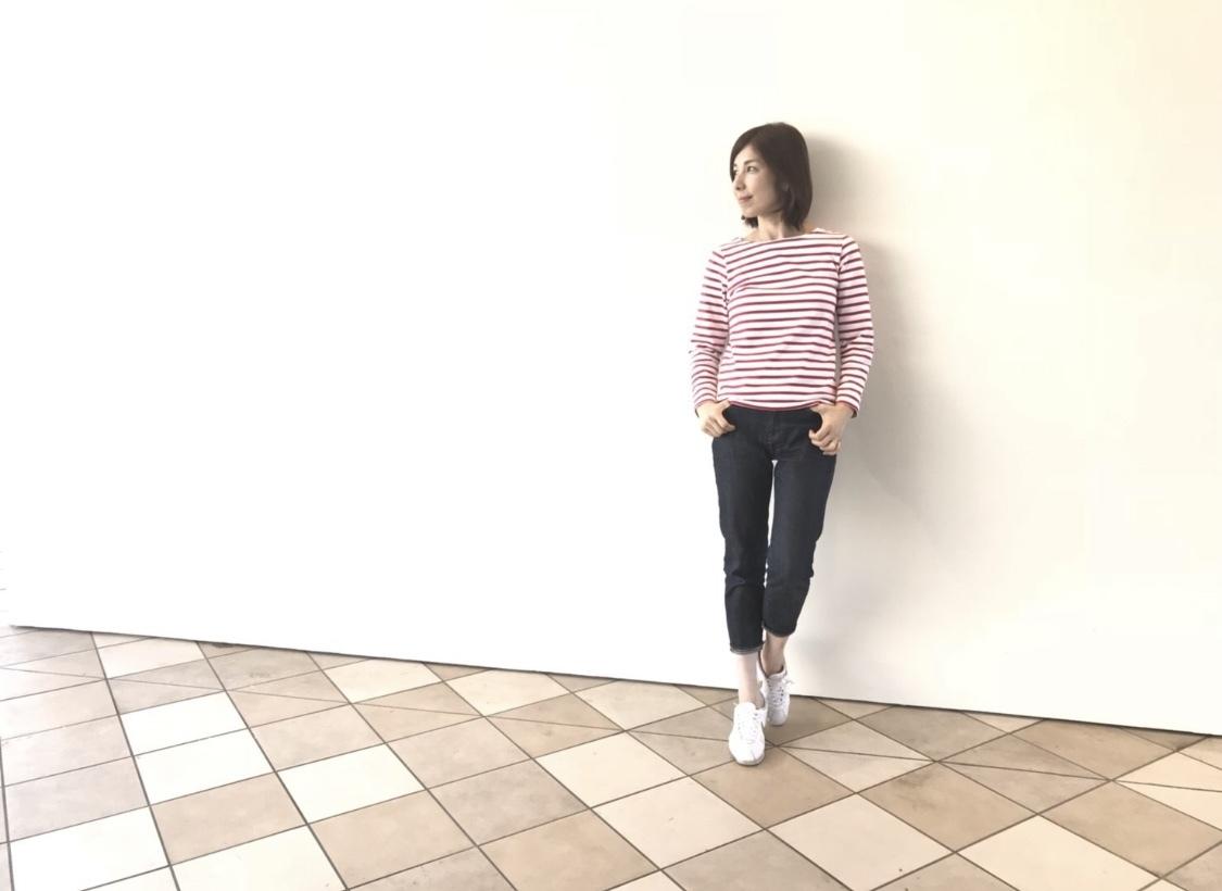 バックスタイルも可愛いルミノアのボーダーシャツ_1_3