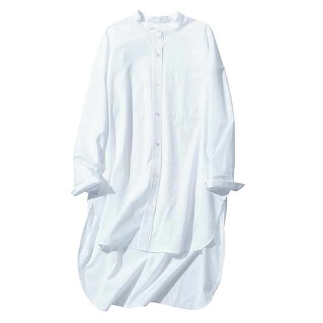 N.O.R.C スタンドカラーシャツ