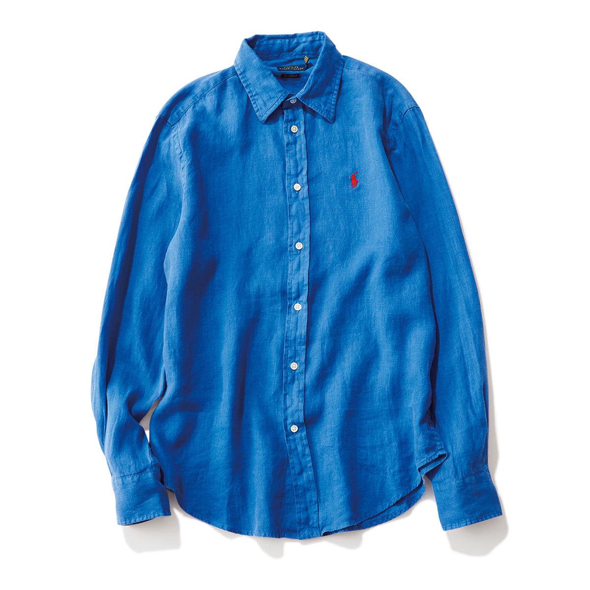 40代ファッション2019年夏のお買い物_RALPH LAURENのリネンシャツ