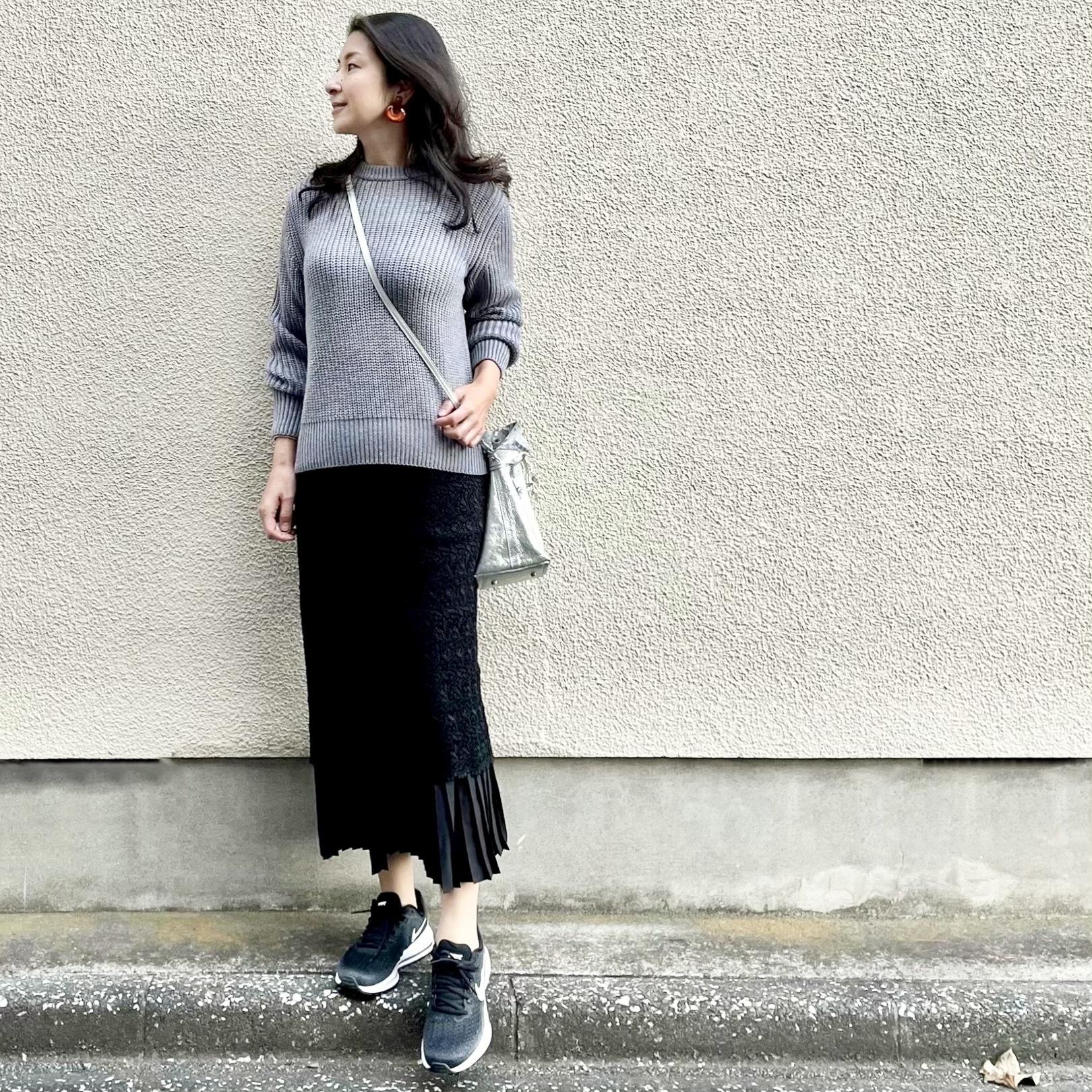 最近のお気に入り♡ レーススカートとスニーカーの組み合わせ_1_1