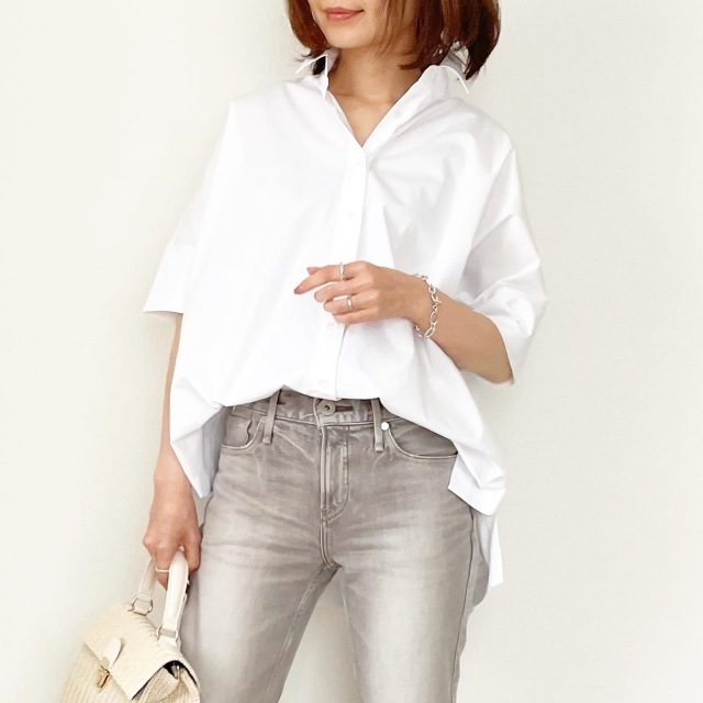 ◆ビッグシルエット半袖シャツ