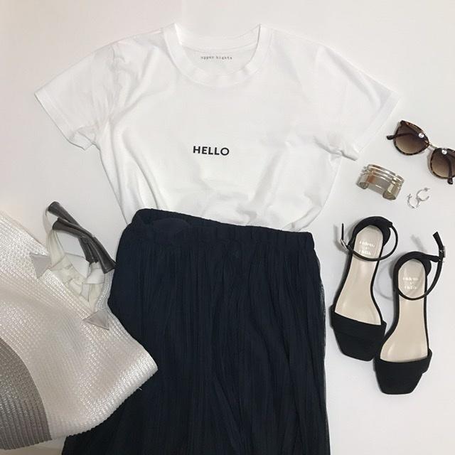 なんとなく難しい白TシャツもロゴTならオシャレになる!_1_8