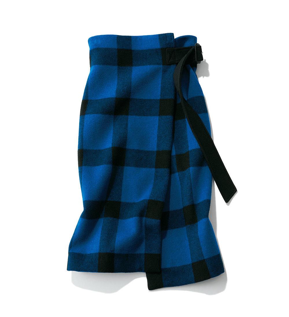 ファッション 秋トレンドのチェック柄スカート