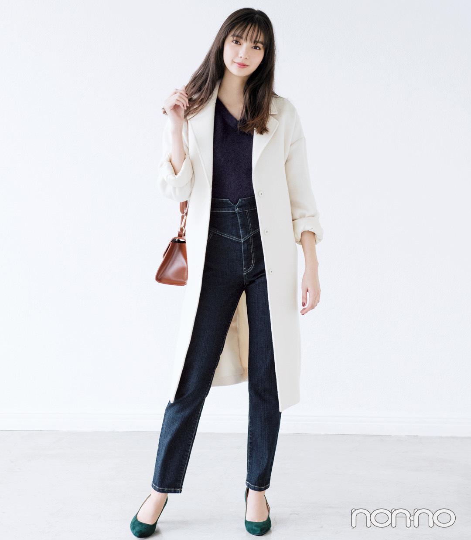 冬の定番スキニー+ロングコート、男子は好きですか?_1_2