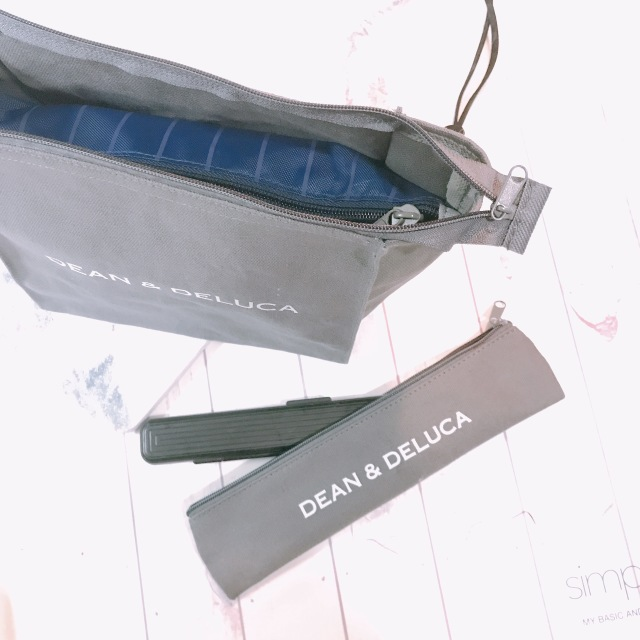 DEAN&DELUCAランチバッグとカトラリーケース♡_1_3