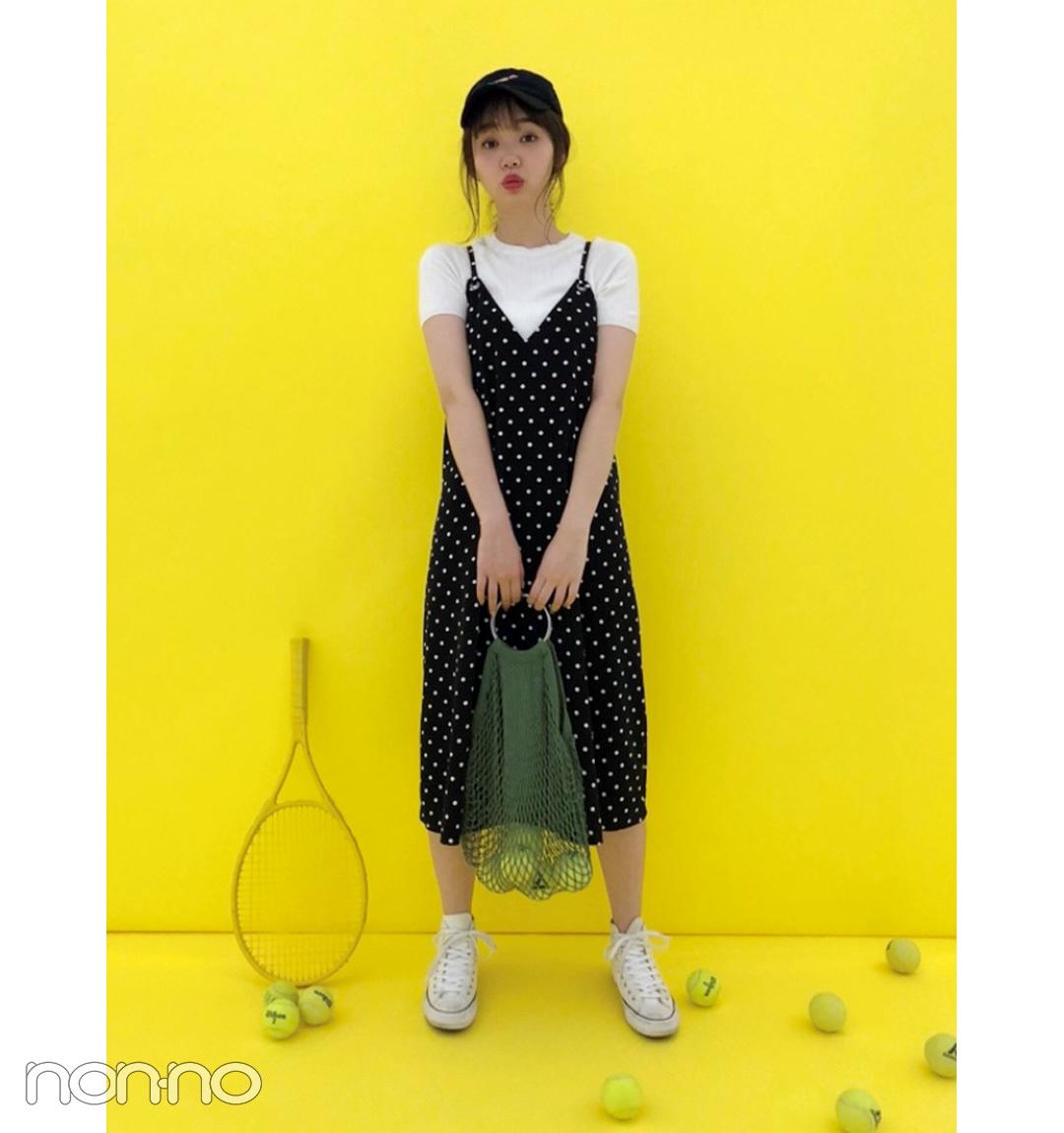 江野沢愛美のカジュアル可愛いドットワンピコーデ【毎日コーデ】_1_1