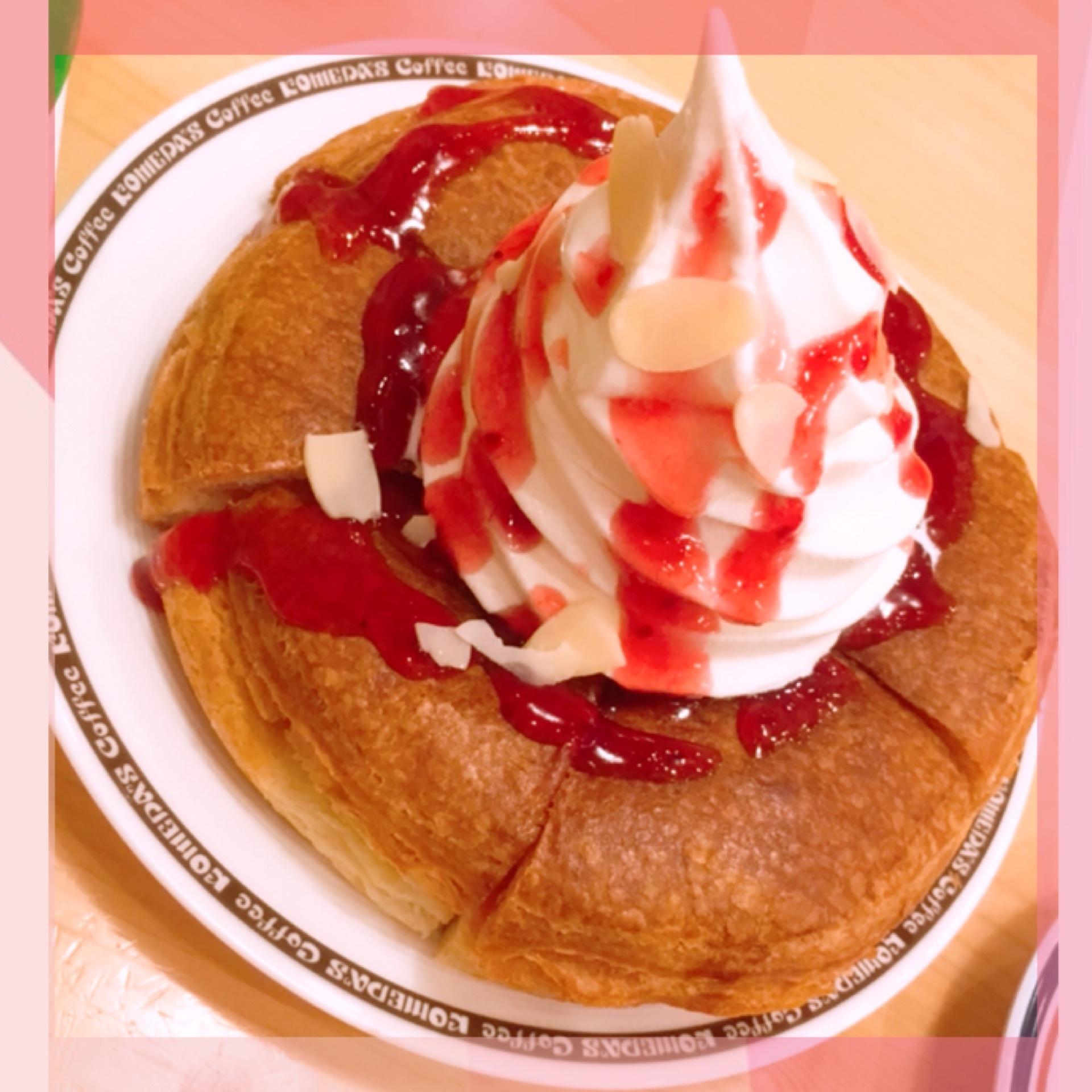 【シロノワール ロイヤルピーチ】期間限定コメダ喫茶 sweets ♡_1_1