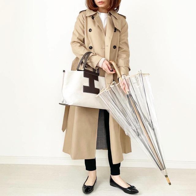 風に強い名品傘と雨の日スタイル【tomomiyuコーデ】_1_1