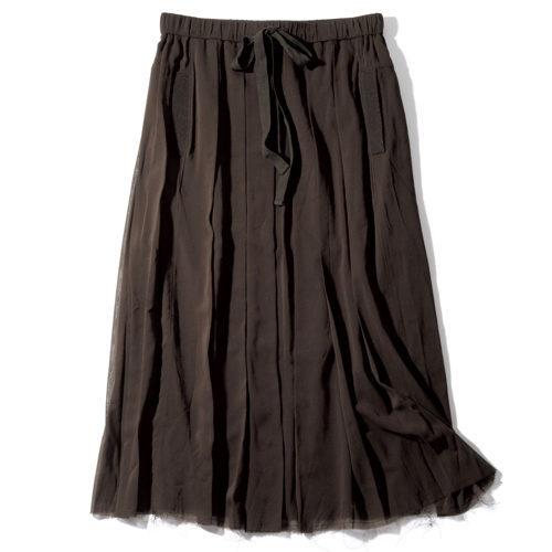 スタイリスト佐伯敦子さんがセレクト。「KristenseN DU NORD」のカーディガンとスカートでつくる上質ブラウンコーディネート_1_3