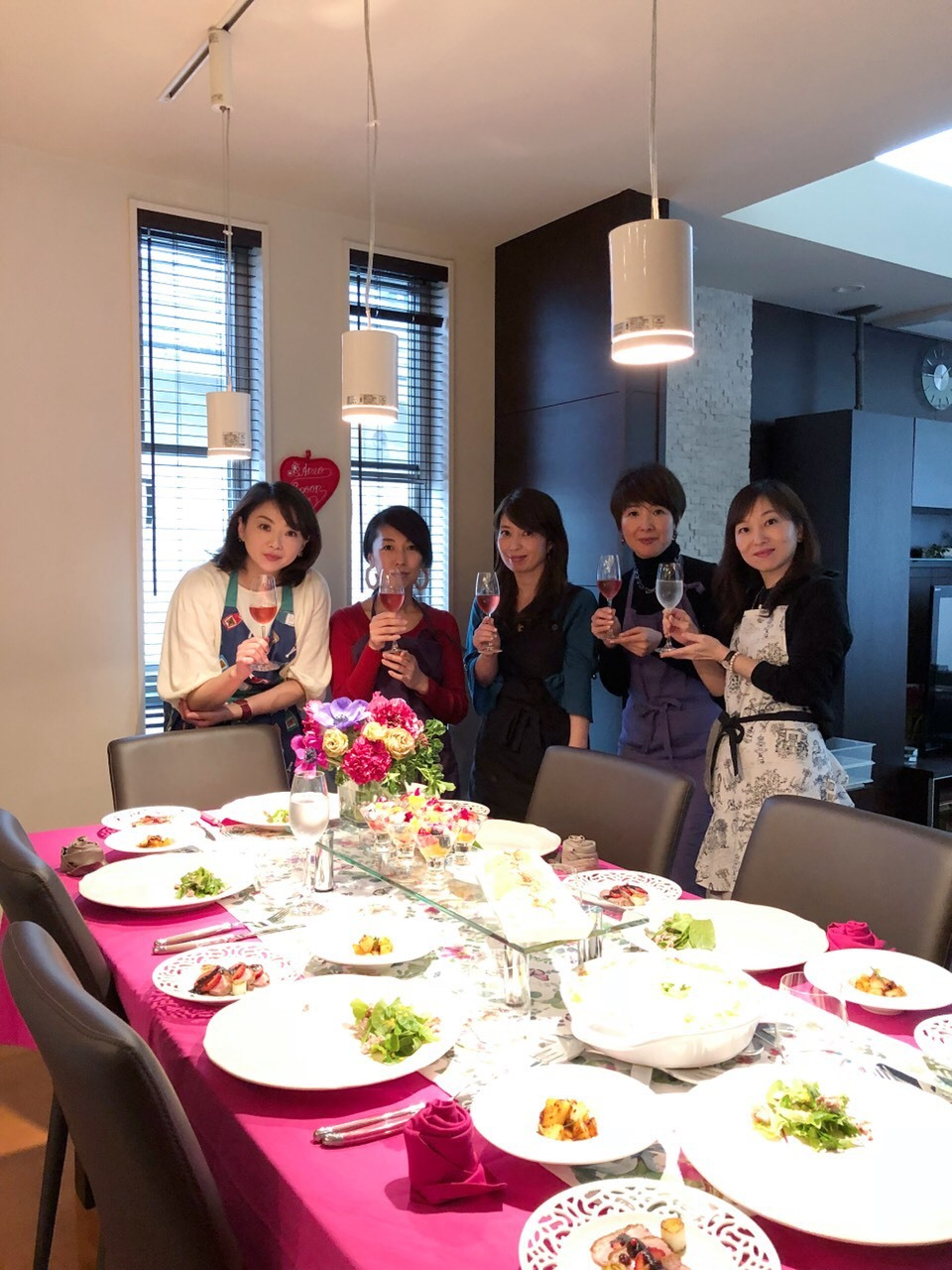 春はピンクのテーブルコーディネートでお料理を楽しく_1_4