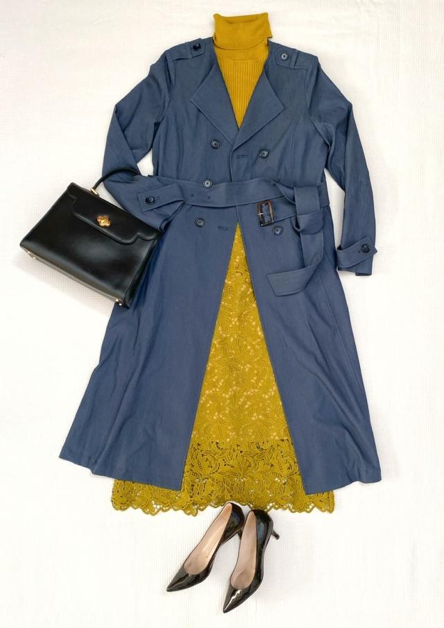 秋のトレンチコートはデニム風カラーで、一味違ったお洒落を♡_1_2