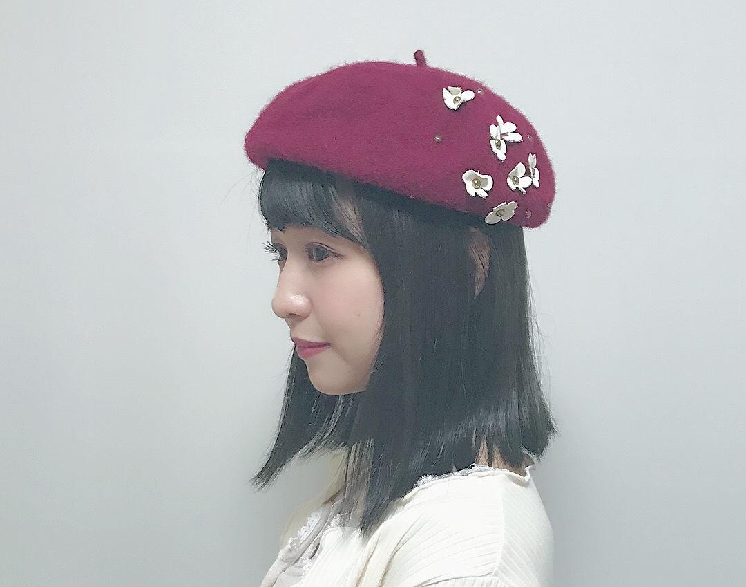 ☃︎秋冬の定番アイテム♡ベレー帽のかぶり方紹介します☃︎_1_1