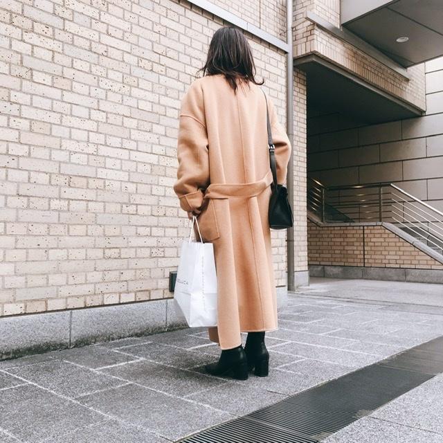 N.O.R.C ノーカラーリバーウールコートを着てみました。_1_3-1