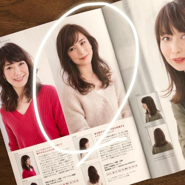 エレガントなふんわりパーマスタイルが素敵♡斜め前髪も若見えポイント!