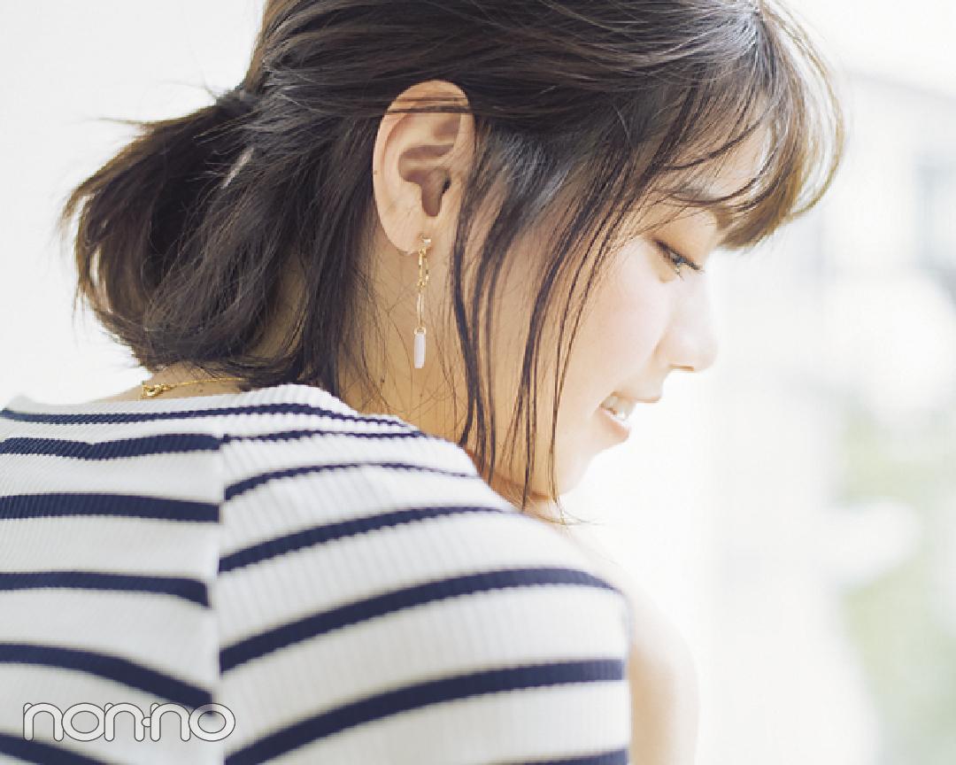 西野七瀬の#彼女感なまとめ髪♡ ボブのハーフアップ、ココが大事!_1_4