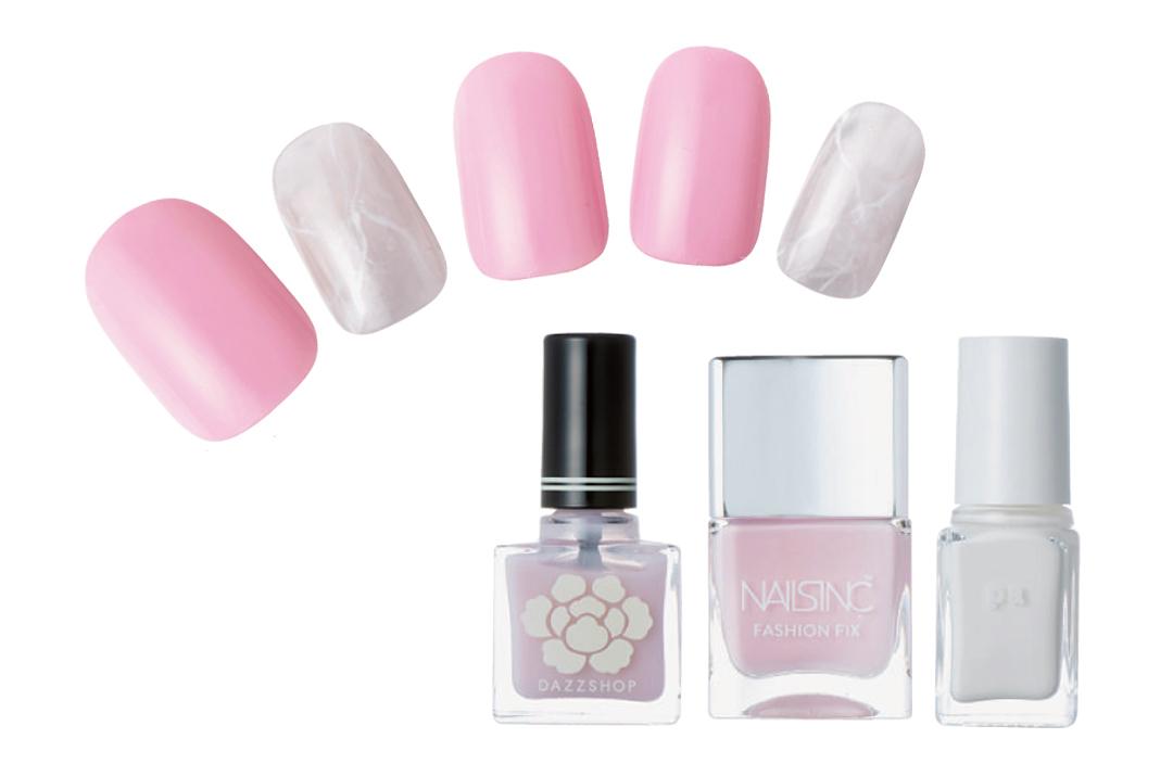 ピンクで優しく見られたい♡ 簡単なのに凝って見える春の好感ネイルデザイン3選!_1_3-2