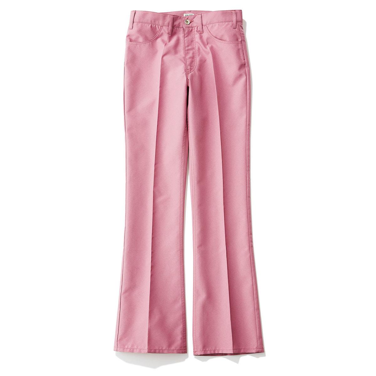 40代ファッション2019年夏のお買い物_ピンクフレアパンツのINSCRIRE