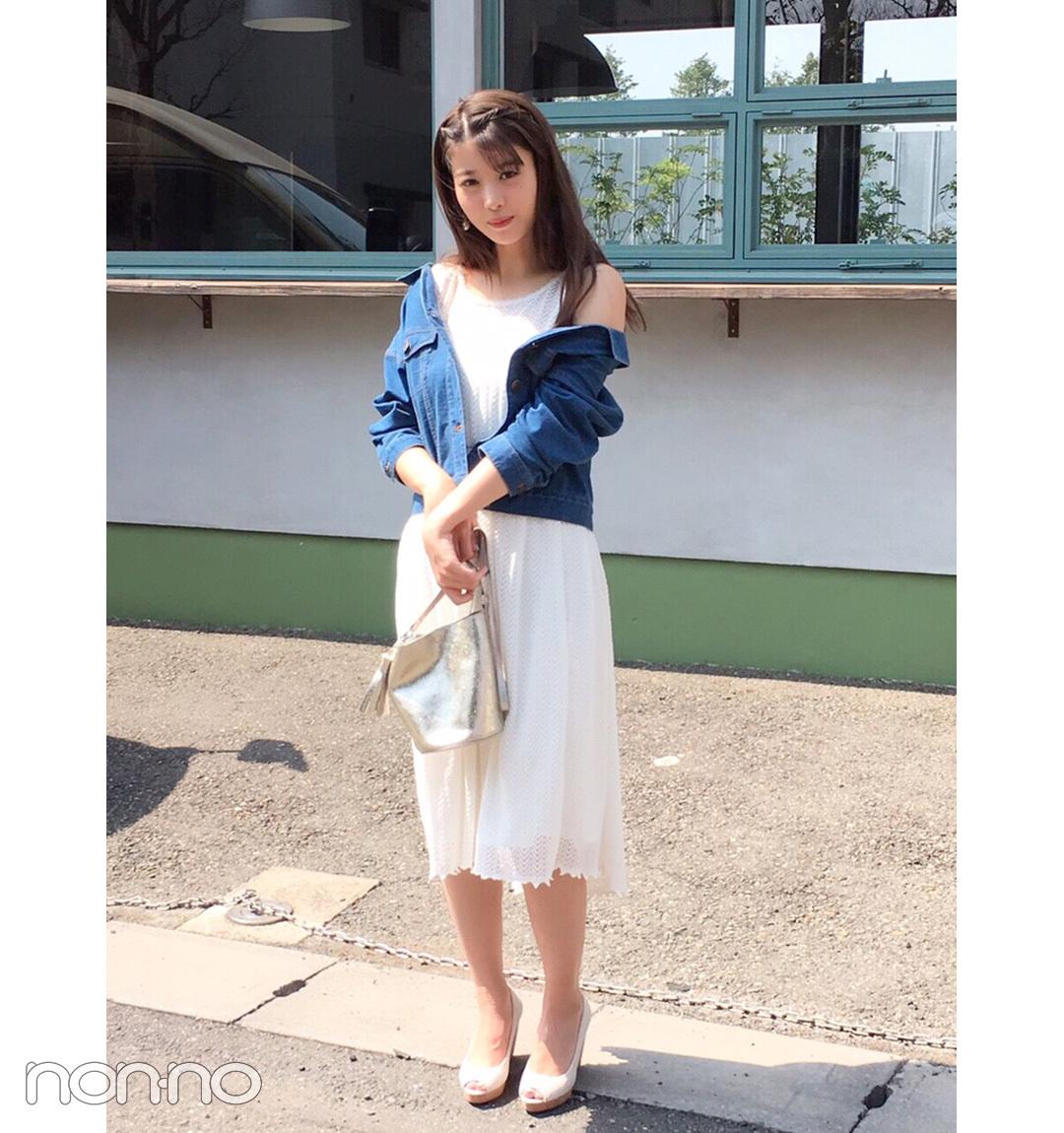 【夏のワンピースコーデ】馬場ふみかの色っぽ白ワンピコーデが見逃せない!