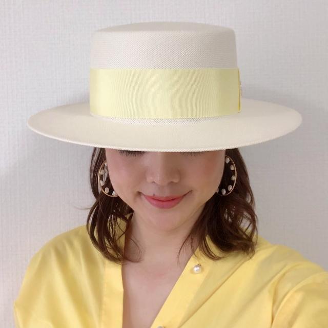 ワンアイテムでちょっとオシャレに。アラフォーもステキに見えるカンカン帽。_1_2-1
