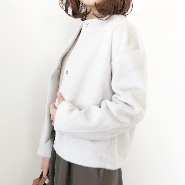 『UNIQLO』ふわふわ極上の手触り♡冬の白アウター【tomomiyuコーデ】_1_5
