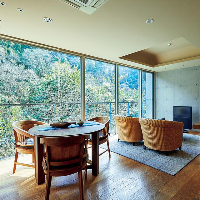 石蔵の4室は、スーパーポテトの杉本貴志氏デザイン